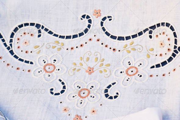PhotoDune carved and embroidered cloth handmade 4141333