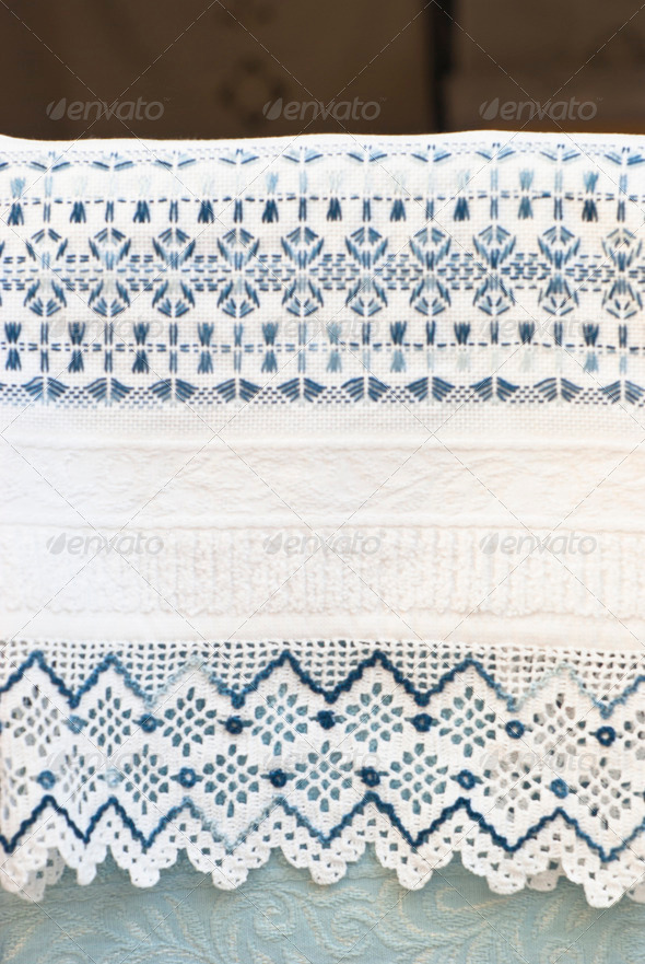 PhotoDune towel with crochet lace 4141352