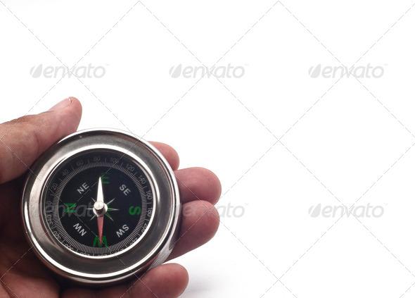 PhotoDune compass on hand 4141365