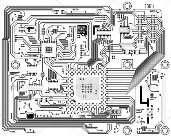 PhotoDune Hi-tech industrial electronic background 4141382
