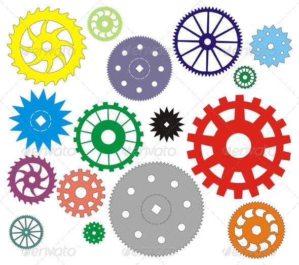 PhotoDune Set of gears different in the form 4141387
