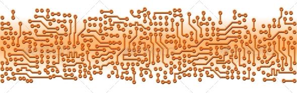 PhotoDune Abstract orange circuit board electronic template 4141389