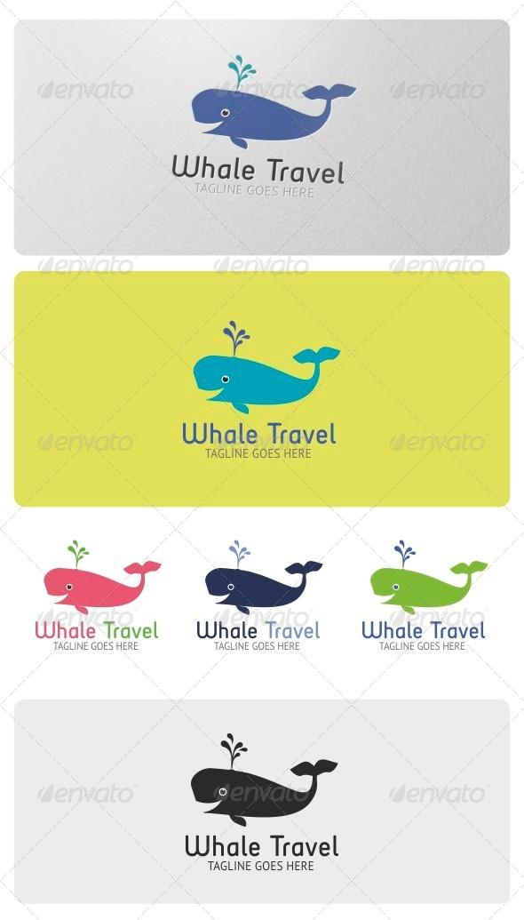 GraphicRiver Whale Travel Logo Template 4075351