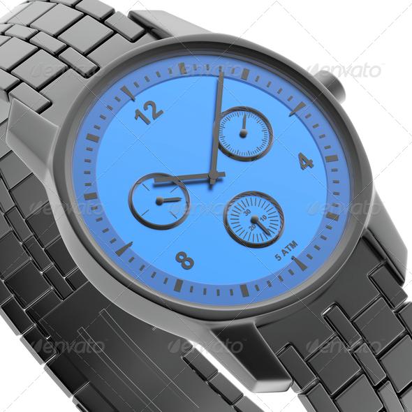 PhotoDune Black-blue watch 4150265