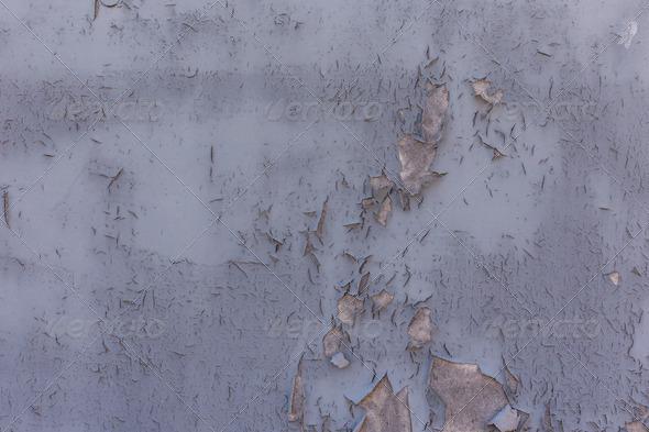 PhotoDune Grey painted wall peeling 4150284