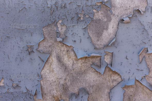 PhotoDune Grey peeling paint 4150282