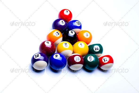PhotoDune Billiard balls isolate on white 4166165