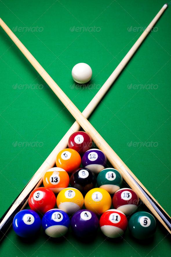 PhotoDune Pool sticks cross 4166167