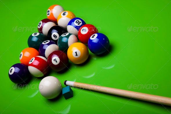 PhotoDune Close up shot of pool ball 4166176