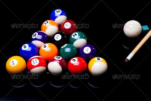 PhotoDune Billiard balls isolated on black 4166174