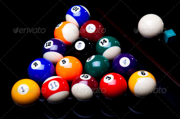 PhotoDune Billiard balls isolated on black 4166094