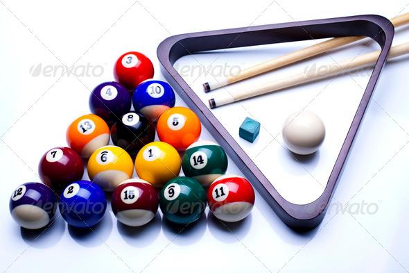 PhotoDune Billiard balls isolate on white 4166102