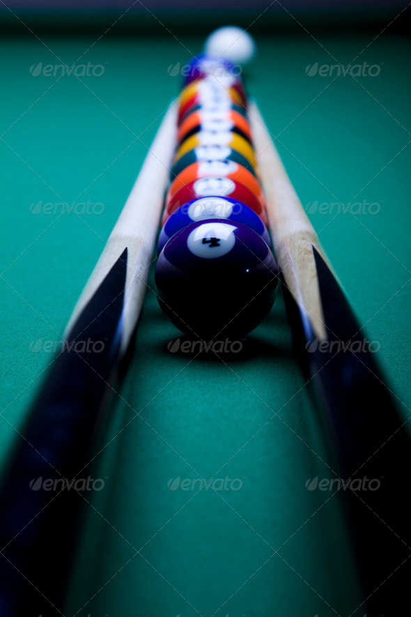 PhotoDune Billiard ball close up 4166127