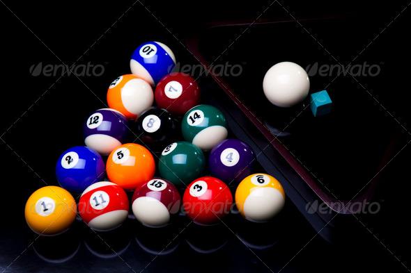 PhotoDune Billiard balls isolated on black 4166130