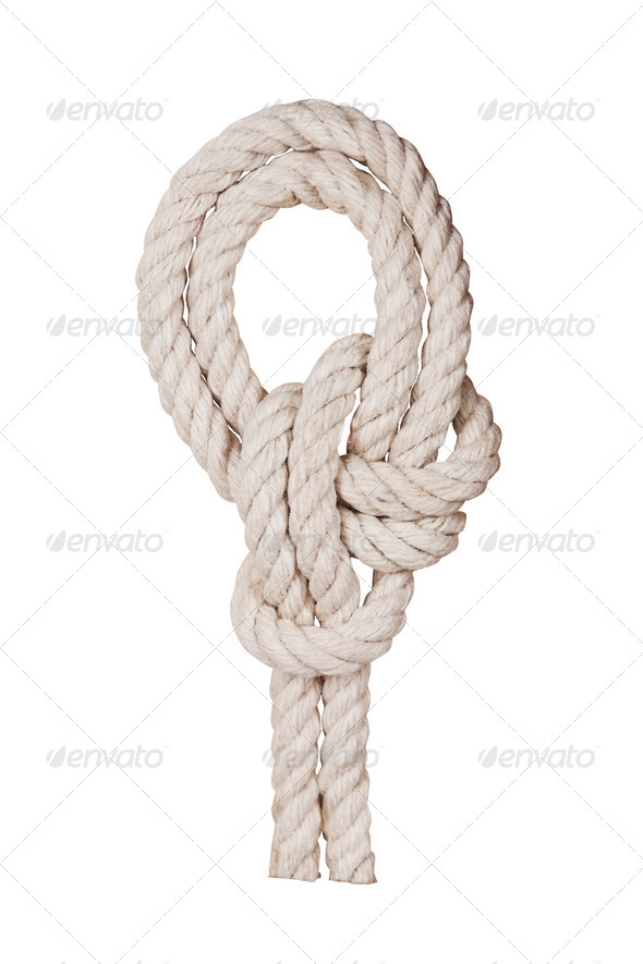 PhotoDune Rope with knot isolated on white background 4154171