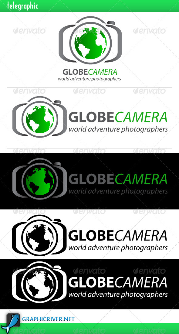 GraphicRiver Globe Camera Logo 4080026