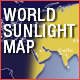 World Sunlight Map - ActiveDen Item for Sale