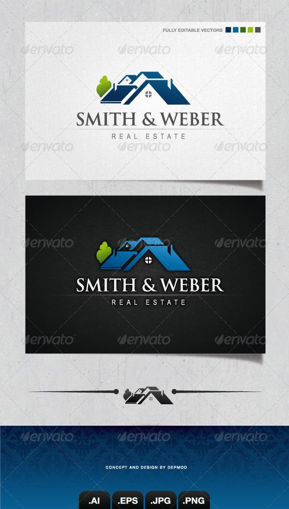 GraphicRiver Smith & Weber Real Estate Logo 4085678