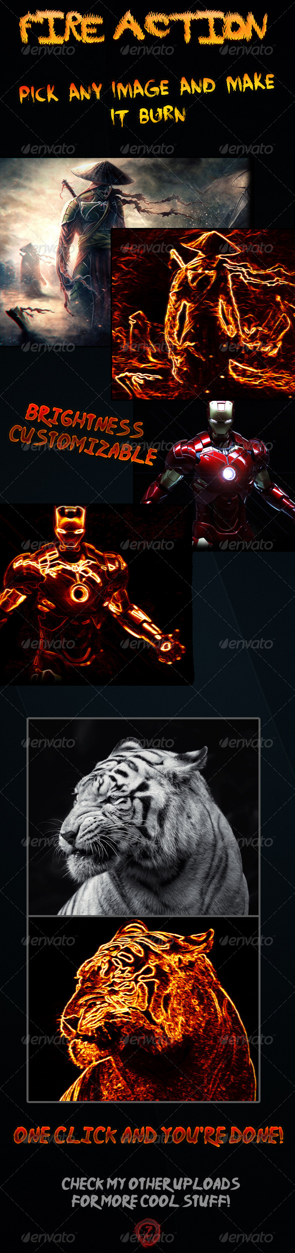 GraphicRiver Fire Effect Photoshop Action 4168553