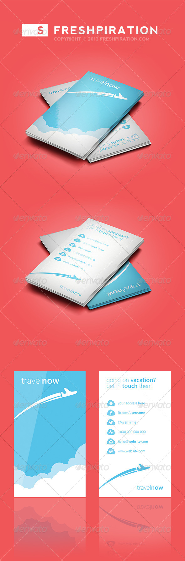 GraphicRiver Travel Agency Business Card 4027681