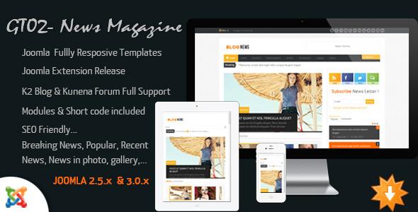 News Magazine - Joomla Responsive Templates - ThemeForest Item for Sale