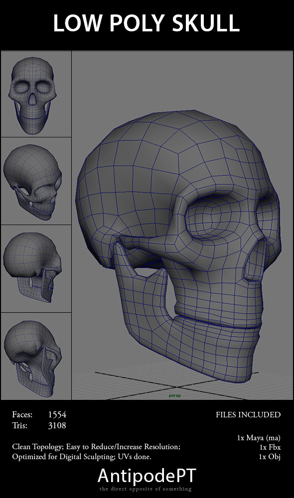 How To Modeling A Skull In Maya » Dondrup.com
