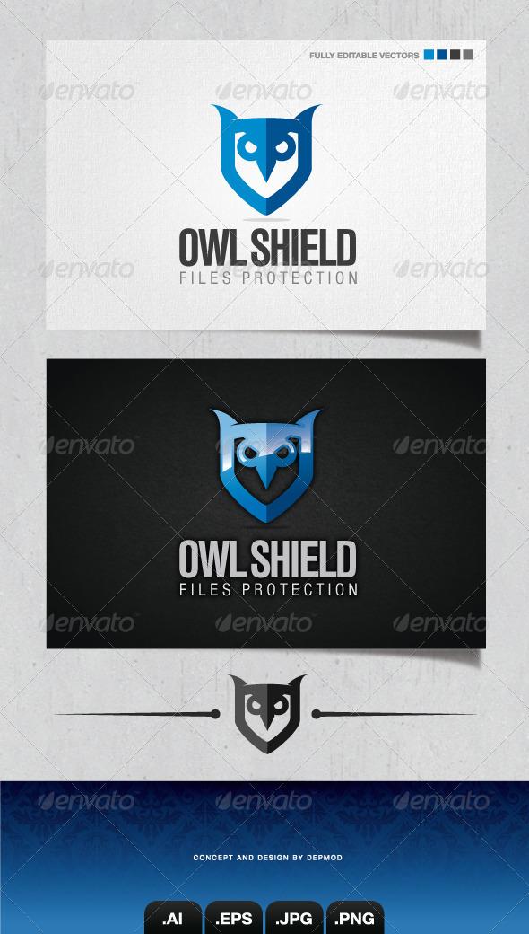 GraphicRiver Owl Shield Logo 4102933