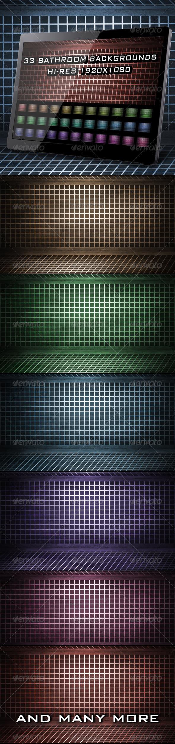 GraphicRiver 33 Bathroom Backgrounds 4099501