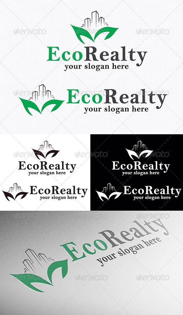 GraphicRiver Eco Realty Logo 4117944