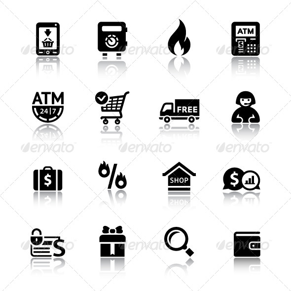 GraphicRiver Shopping Icons 4060865