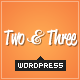 Two and Three - Portfolio WordPress Theme - ThemeForest Item for Sale