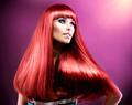 Healthy Straight Long Red Hair. Fashion Beauty Model - PhotoDune Item for Sale