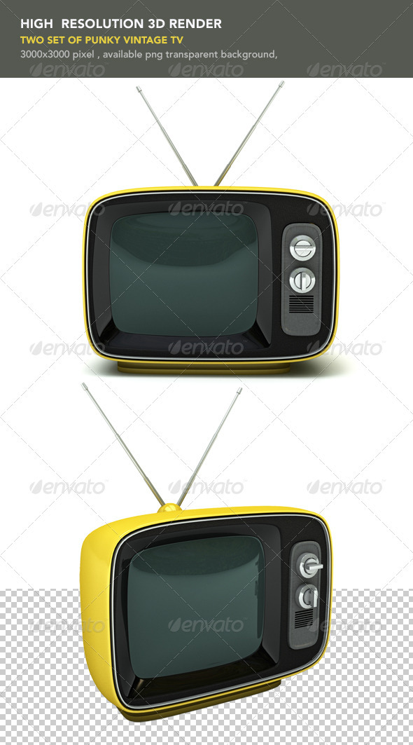 GraphicRiver Vintage Yellow TV 459184