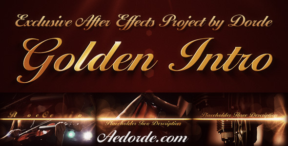 After Effects Project - VideoHive Golden Intro 459748