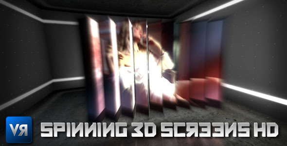 After Effects Project - VideoHive Spinning 3D screens HD 460151