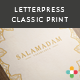 5 Multipurpose Mock Up -3- Letterpress & Classic - GraphicRiver Item for Sale