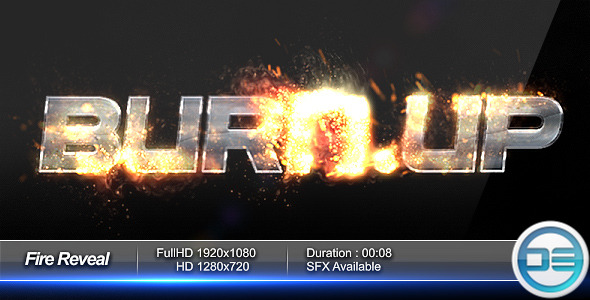 After Effects Project - VideoHive Fire Reveal 460571