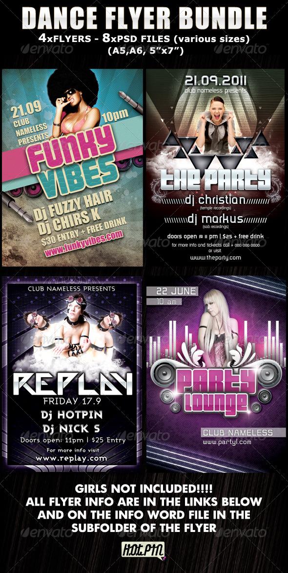 GraphicRiver Dance Party-Club Flyer Bundle 460841