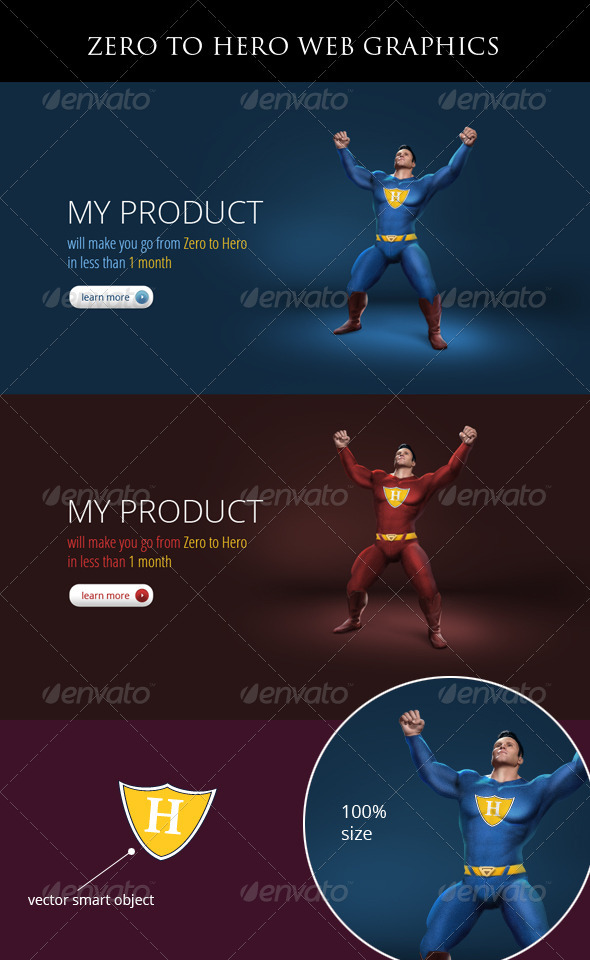 GraphicRiver Zero to Hero Concept 460848
