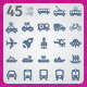 45 AI and PSD Transport strict Icons - GraphicRiver Item for Sale