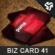 Business Card Design 41 - GraphicRiver Item for Sale