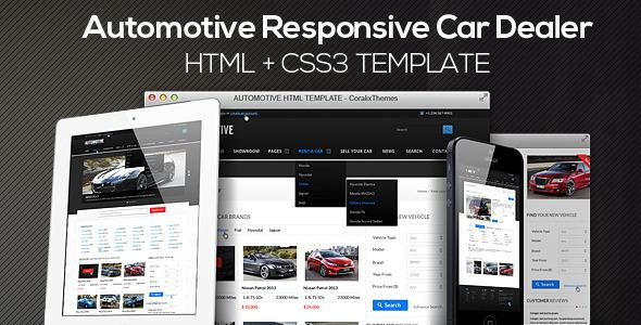 Automotive Cars Dealer Responsive Html5 Css3