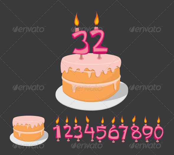 GraphicRiver Birthday Cake Candles Template 461014