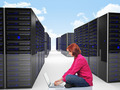 woman in datacenter - PhotoDune Item for Sale