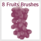 8 Fruits Brushes (2500px) - GraphicRiver Item for Sale
