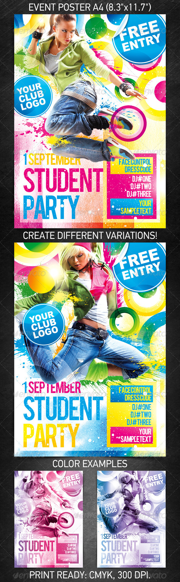 GraphicRiver Student Party Poster 462498