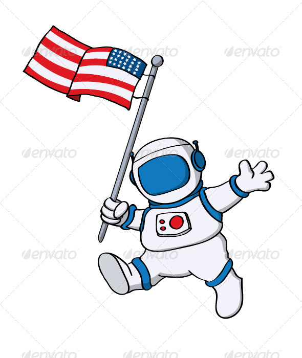 Images of Astronaut Flag Silhouette - #SpaceMood