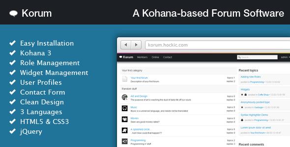 Creating a Simple PHP Script: Korum A Kohana-based Forum Software