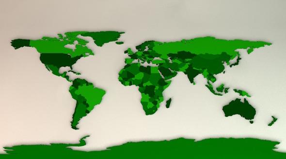 World Map 3d Model.3d Model World Map