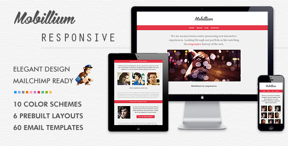Mobillium responsive email newsletter by bedros for Mailchimp create template from campaign